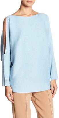 Vince Camuto Cold Shoulder Ribbed Knit Sweater