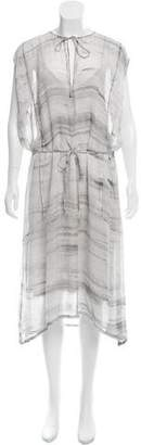 Raquel Allegra Printed Silk Dress w/ Tags