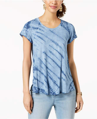 Style&Co. Style & Co Plus Size Tie-Dyed Top, Created for Macy's