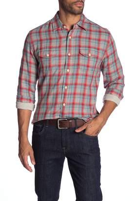 Grayers Sherman Double Cloth Plaid Slim Fit Shirt