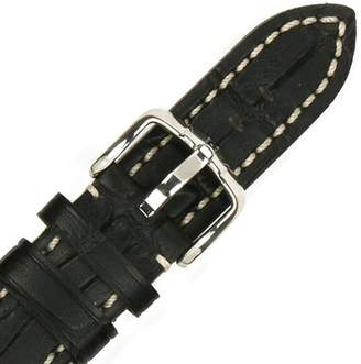 Hirsch 109028-50-20 20 -mm Genuine Calfskin Alligator Embossed Watch Strap