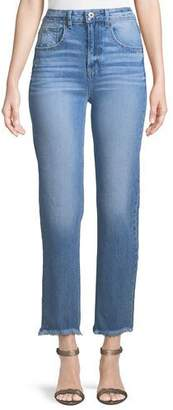 Paige Sarah High-Rise Frayed Jeans