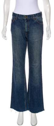 Saint Laurent Mid-Rise Flared Jeans