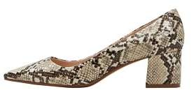 MANGO Snakeskin print heeled shoes