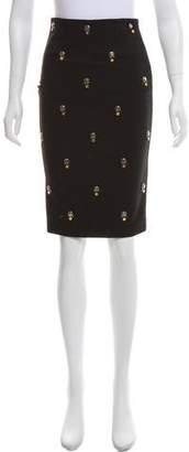 Elizabeth and James Embellished Knee-Length Pencil Skirt