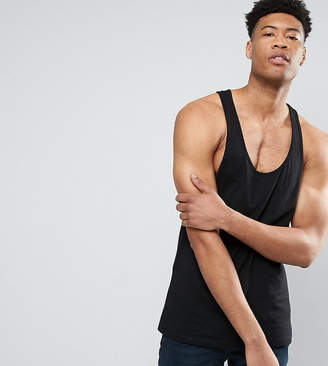 Asos DESIGN Tall tank with extreme racer back in black