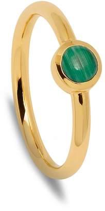 Lola Rose London - Curio Stud Stacker Ring Malachite