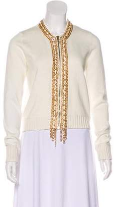 MICHAEL Michael Kors Chain-Accented Knit Cardiganca