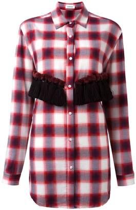 Au Jour Le Jour checked tassel detail shirt