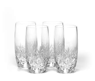 Mikasa Set of 4 Crystal Highball Glasses