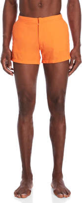 Solid & Striped Neon Orange Swim Trunks
