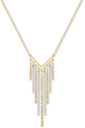 "Swarovski Two-Tone Crystal Fringe 17-3/4"" Statement Necklace"