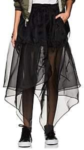 BLINDNESS Women's Handkerchief-Hem Organza Skirt - Black
