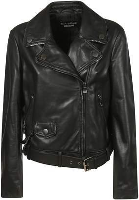 Moschino Zipped Leather Jacket