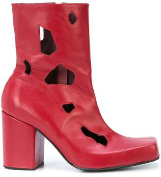 Charles Jeffrey Loverboy cut-out detail heel boots