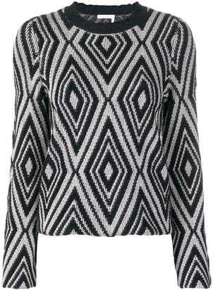 See by Chloe frilly-neck sweater