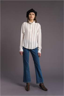 Sonia Rykiel Striped Blouse With Embossed Collar