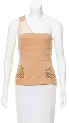 VPL Mesh-Accented One-Shoulder Top w/ Tags