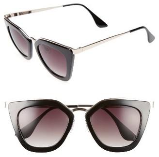Women's Bp. 52Mm Cat Eye Sunglasses - Black/ Gold $12 thestylecure.com