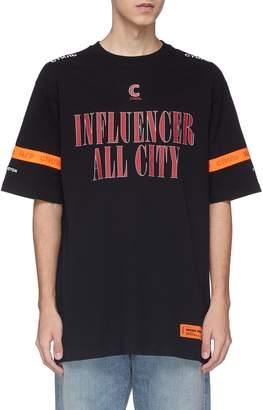 Heron Preston 'Influencer' slogan print contrast trim T-shirt