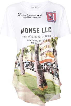 Monse printed asymmetric T-shirt