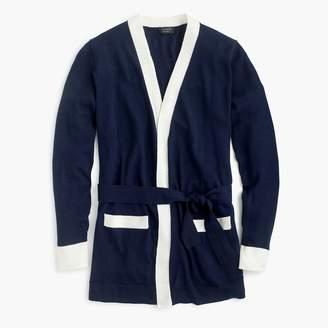 J.Crew Everyday cashmere colorblock long cardigan