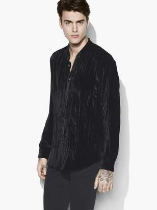 John Varvatos Crushed Velvet Shirt