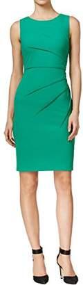 Calvin Klein Women's Round Neck Sleeveless Sheath with Starburst Detail