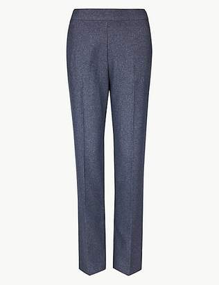 M&S Collection Textured Straight Leg Trousers