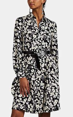 Derek Lam Women's Poppy-Pattern Silk Jacquard Shirtdress - Black Multi