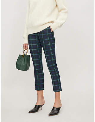 Claudie Pierlot Pause cropped tartan twill trousers