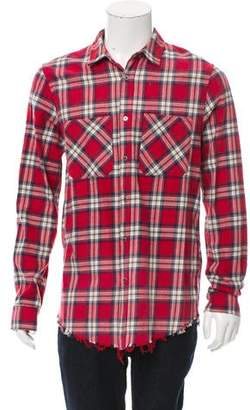 Amiri Gunge Flannel Shirt w/ Tags