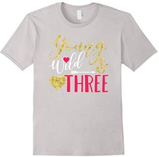 "Girl Youth TShirt ""Young Wild and Three!"""