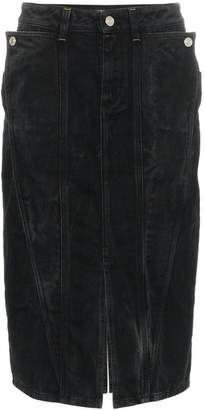 Givenchy high waisted fitted denim skirt
