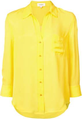 L'Agence v-neck chest pocket shirt
