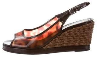 Saint Laurent Rubber Wedge Sandals