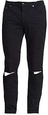 Saint Laurent Men's Distressed Slim-Fit Jeans