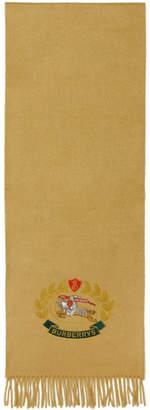 Burberry (バーバリー) - Burberry イエロー カシミア ラージ クレスト スカーフ