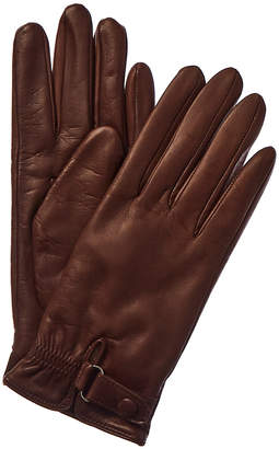 Portolano Belted Cashmere-Lined Leather Gloves