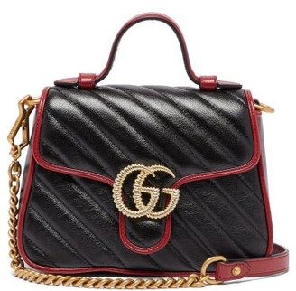 Gucci Gg Marmont Mini Quilted Leather Cross Body Bag - Womens - Black Multi