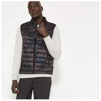 Joe Fresh Men's Print Primaloft Puffer Vest, Black (Size XL)