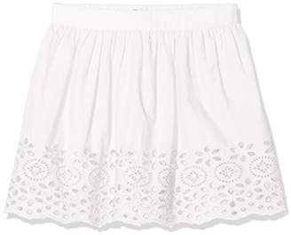 Benetton Girl's Skirt, (White 101), One (Size: 2y)