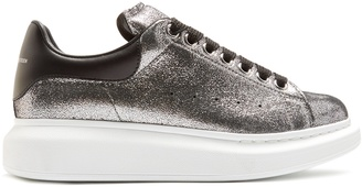 ALEXANDER MCQUEEN Raised-sole low-top leather trainers $575 thestylecure.com