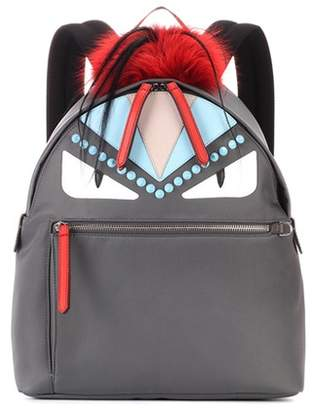 Fendi Fur and leather embellished backpack