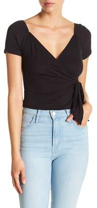 Ten Sixty Sherman Ribbed Wrap Crop Top