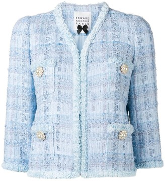Edward Achour Paris short tweed jacket