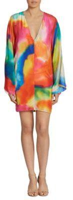 Ralph Lauren Collection Nadia Splash-Print Silk Dress