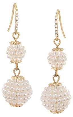 Carolee Simulated Pearl Double Drop Earrings