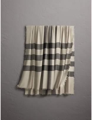 Burberry (バーバリー) - Burberry チェック モーダルウール スカーフ