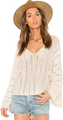 Ella Moss Caprisa Crochet Sweater in Ivory $195 thestylecure.com